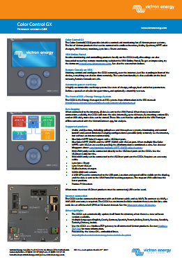 Datasheet Color Control GX